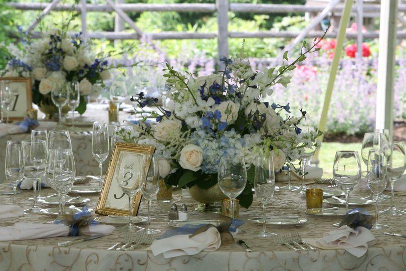 Elegant tented wedding
