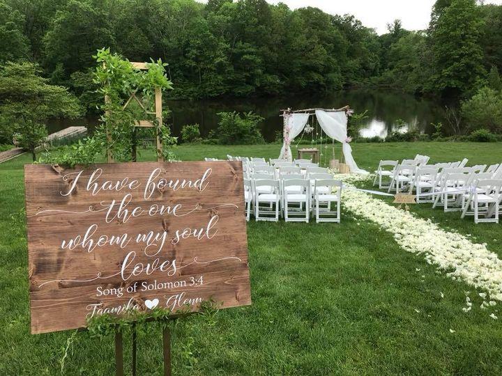 Ceremony chairs & wedding arch