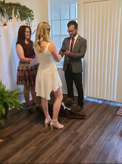 Joining the couple in matrimony