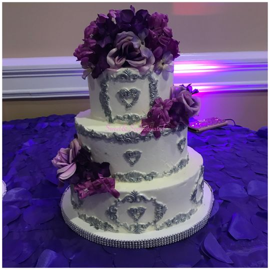 Sliver & Purple Wedding