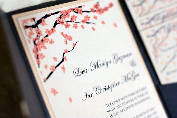 Ian & Lovin's wedding invitation
