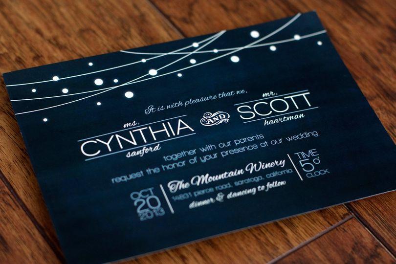 Cindy & Scott's wedding invitation