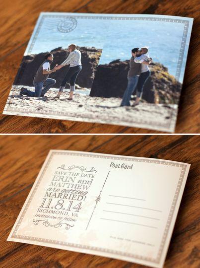 Erin & Matt's postcard save-the-date