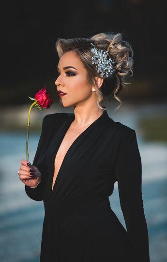 Beautiful romantic updo
