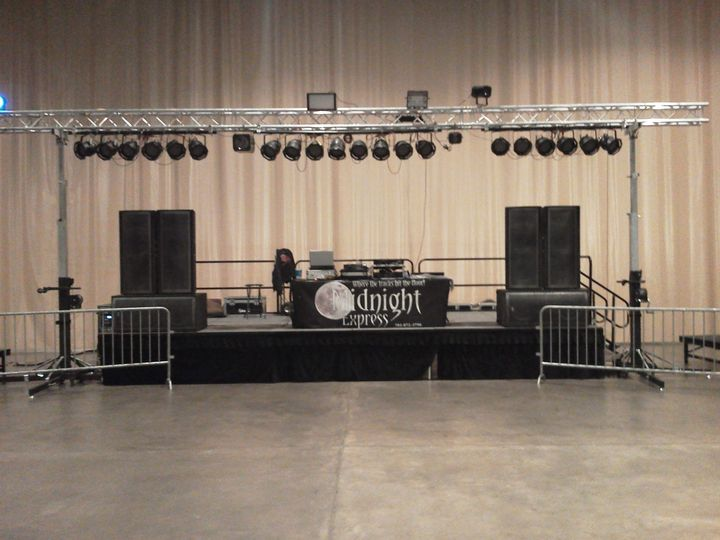 Large college dance setup