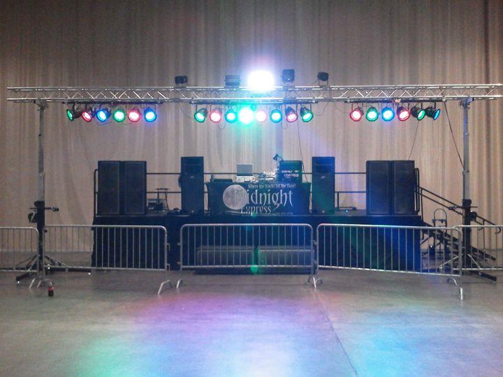 Large college dance setup lights