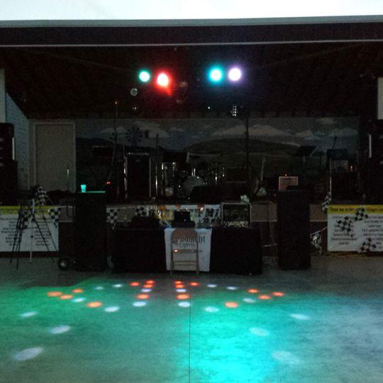 Wedding dance setup