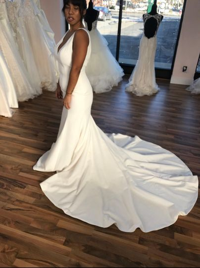 Sweetheart gown with train