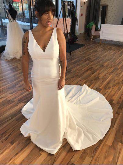 Sweetheart wedding gown