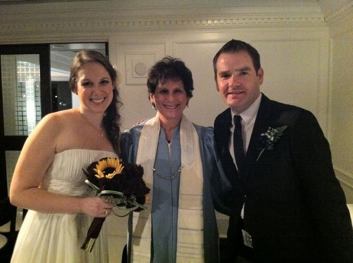 Cantor with the newlyweds