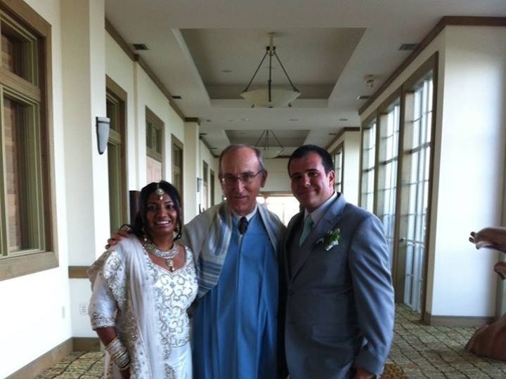Tmx 1425869019235 Wp 44 Rabbi David With A Beautiful Bride And Groom Miami, FL wedding officiant