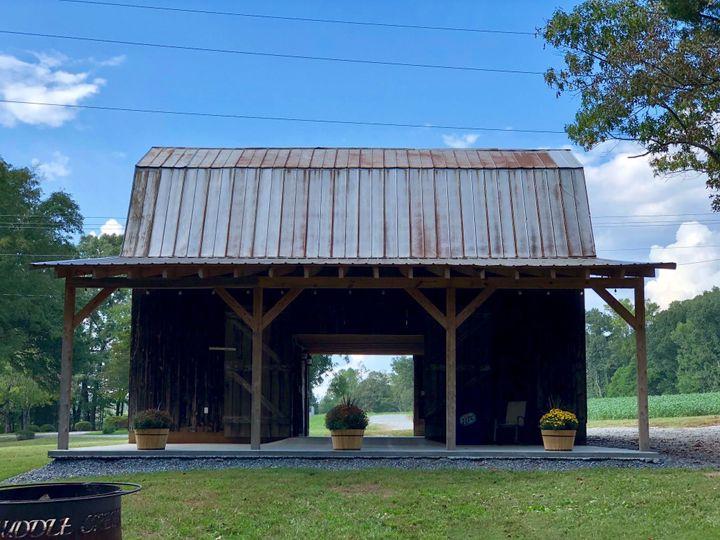 Backside of the barn
