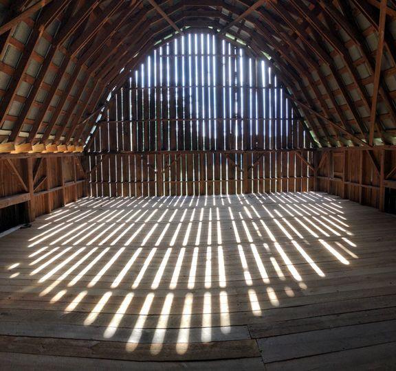 Upstairs loft in the barn