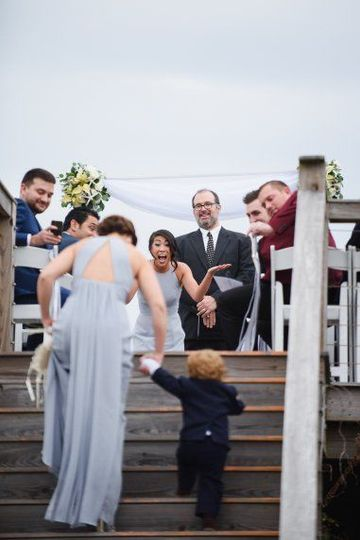 Your wedding party can be big - or small.  Shot by Neil GT Photography.