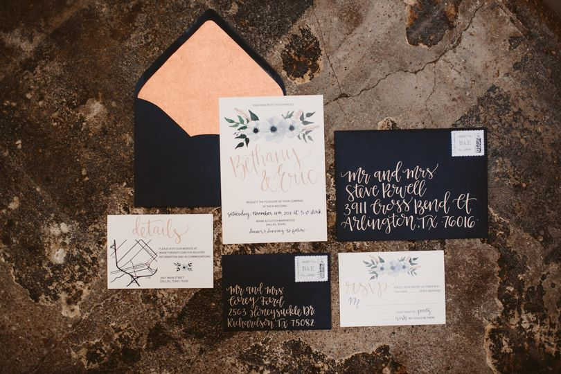 Invitation samples  | Photo by Allison Harp Photography