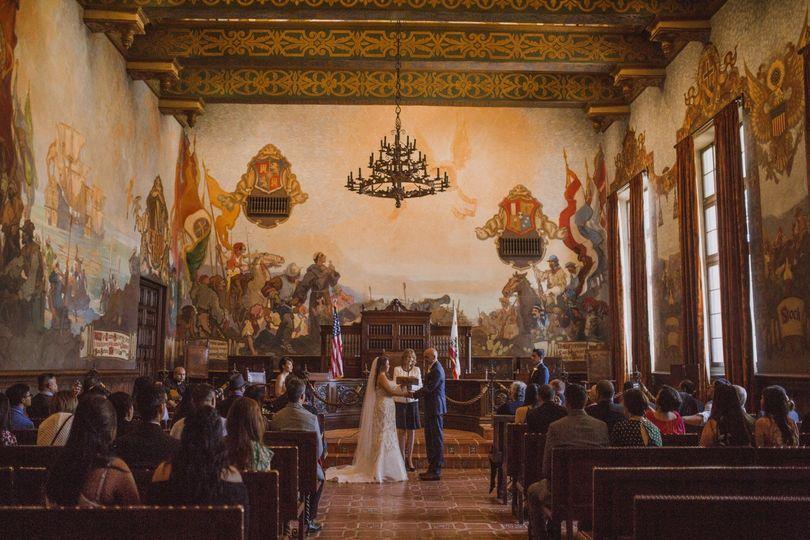 Santa Barbara court wedding