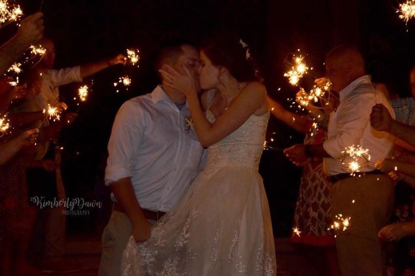 Couple kissng