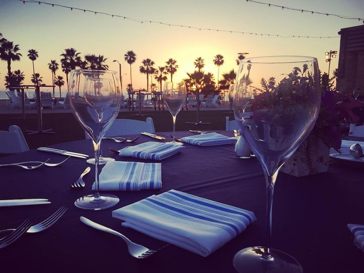 Table setting and glasses