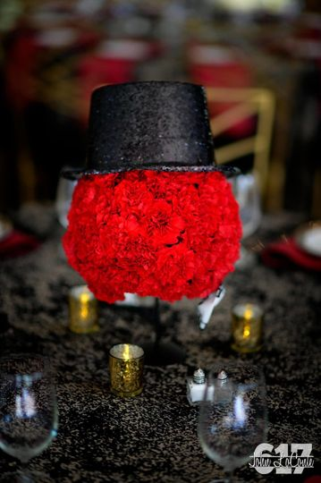 Carnation ball centerpiece