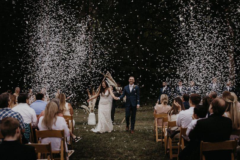 Ceremony in Tree Garden