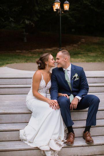 Loving couples shot on steps