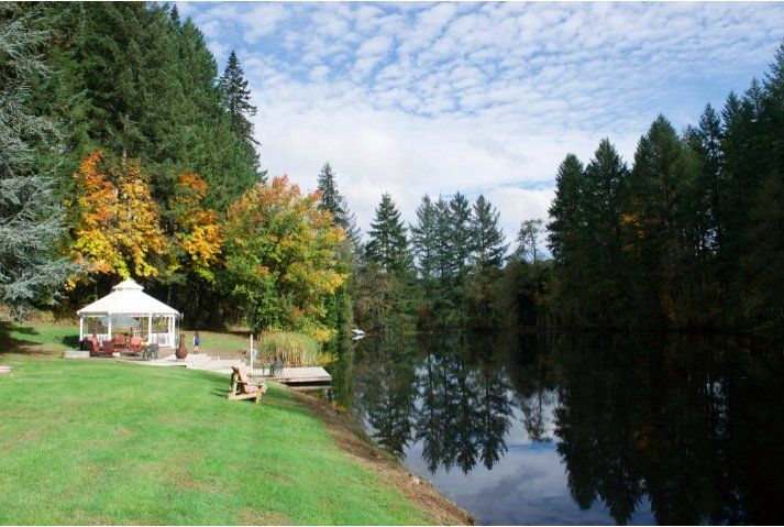 Sparkling lake & gazebo