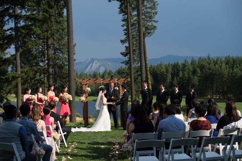 Outdoor lawn ceremony