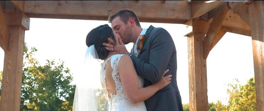 Couples kiss
