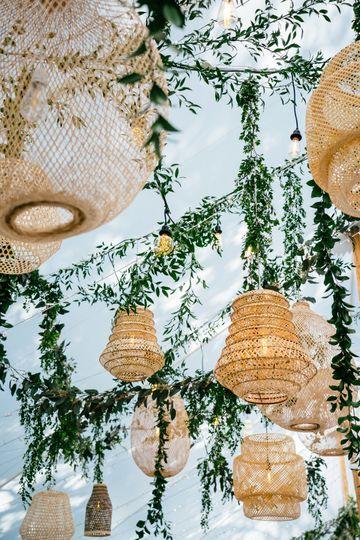 Pretty lanterns flown in