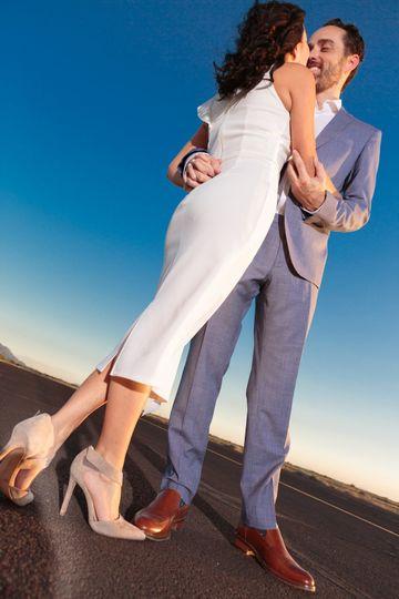 Engagement runway dance