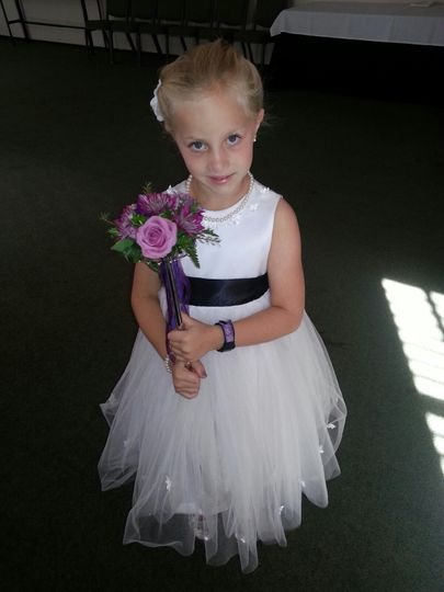 Adorable flower girl wand