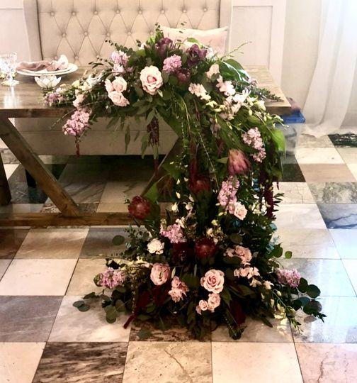 Elaborate sweetheart table
