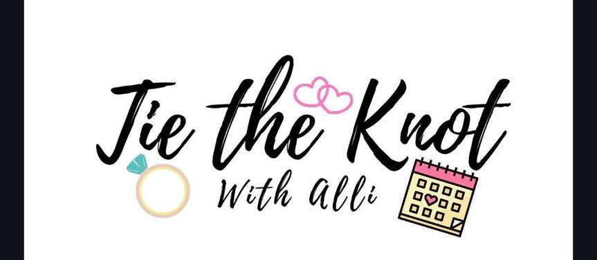 logo tie the knot with alli 51 1888995 161647257546330