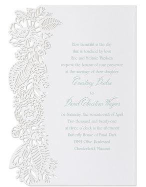 Cut-out wedding invitation