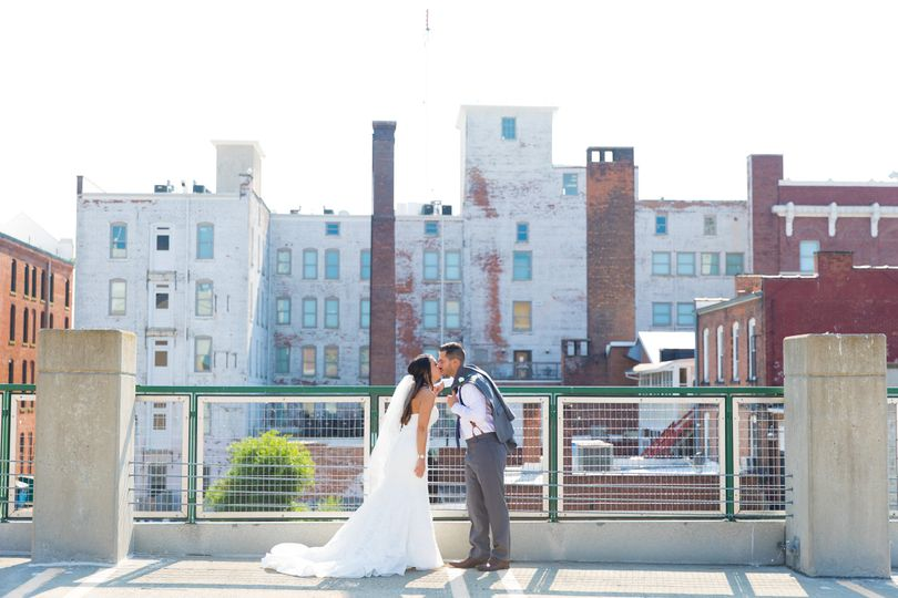 Rooftop kisses.