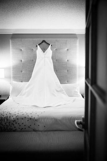 A peek at the dress!