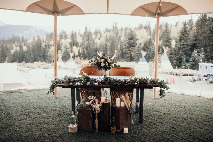 Bride/groom table