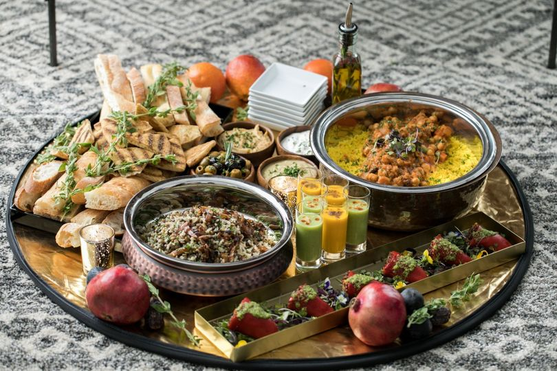 Middle Eastern food station