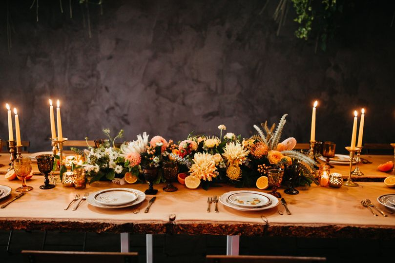 Rustic table setup