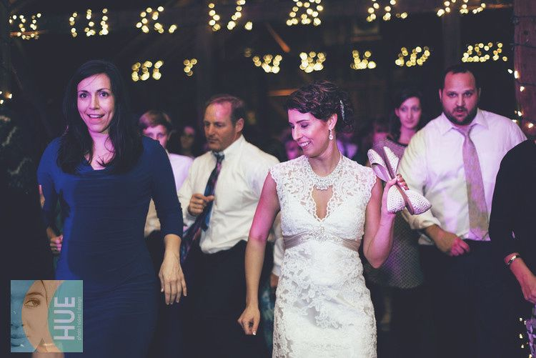The bride dancing with the guest