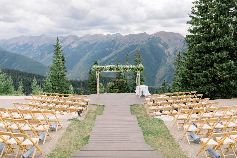The Little Nell wedding deck, Colorado