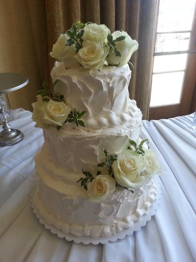 An elegant three-tiered cake