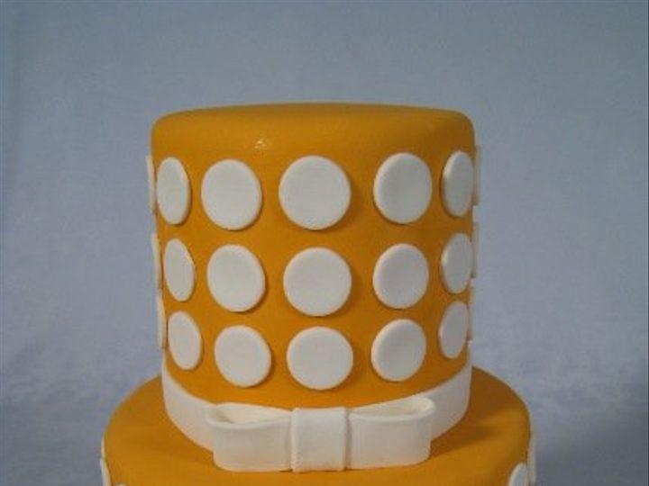 Tmx 1268626216987 CopyofOrangeWhitePolkaDots San Francisco wedding cake