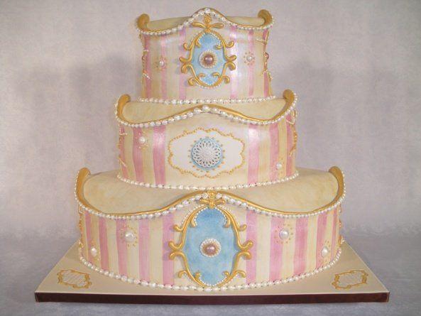 Tmx 1268626249003 RococoBrideWhite1RESIZE San Francisco wedding cake