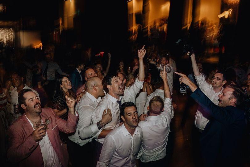 Wedding Peeps Rockin' Out!