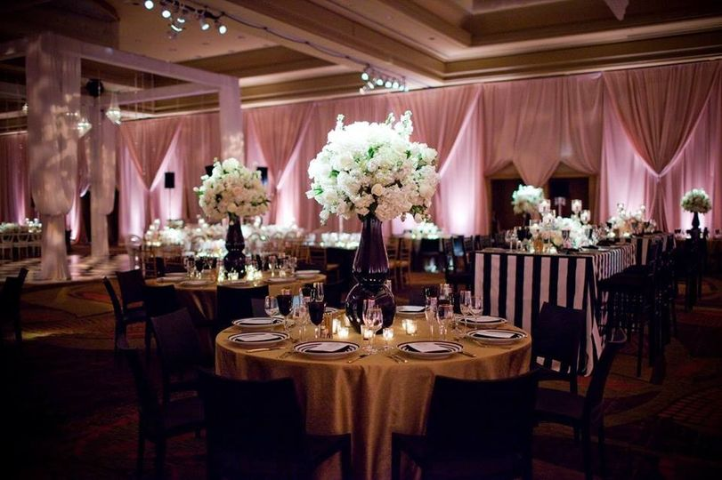 A reception set up