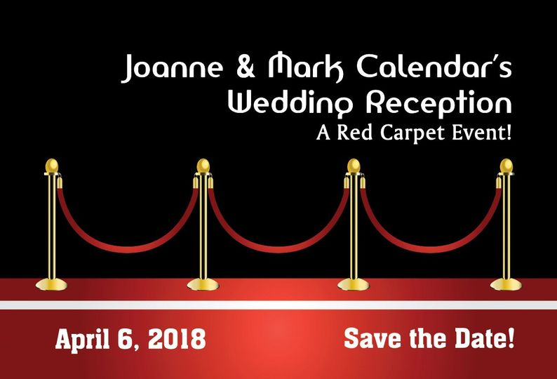 Red Carpet Save the Dates, Red Carpet Invitations