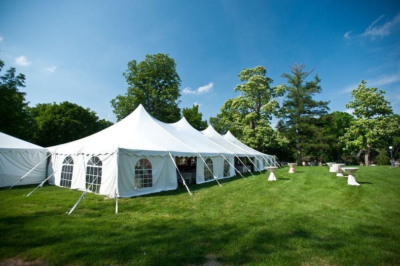 Outdoor Tent Reception
