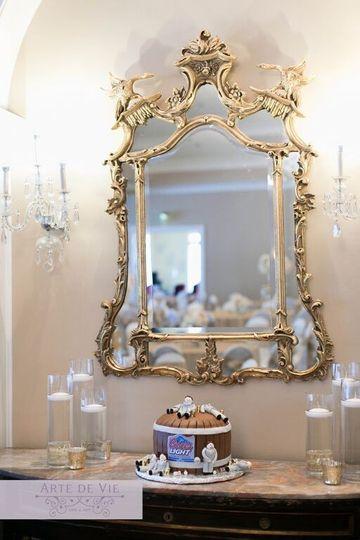 The vintage mirror