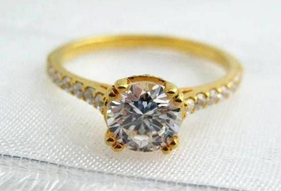 Ring Wedding 1ctdiamond